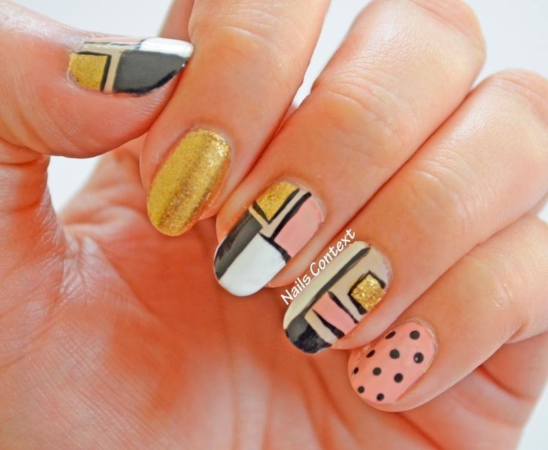 Trendy Colorblock Nails  nail art by NailsContext