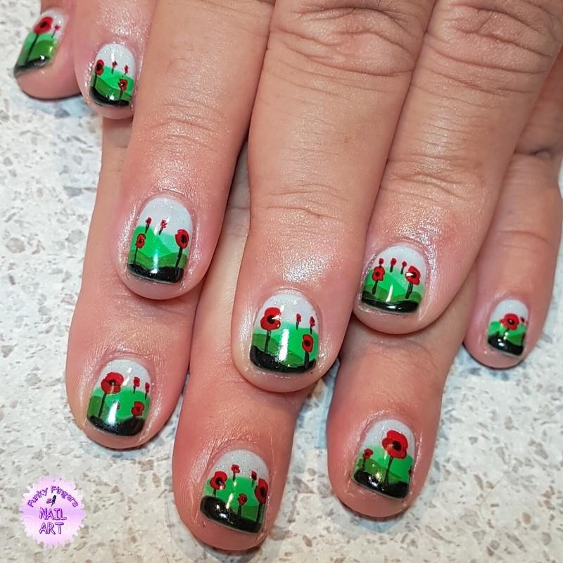 Anzac day nails nail art by Funky fingers nail art - Nailpolis ...