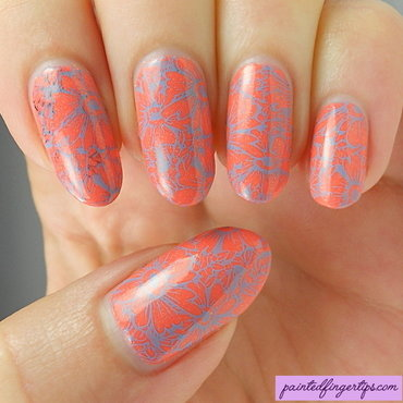 Blue flower stamping thumb370f