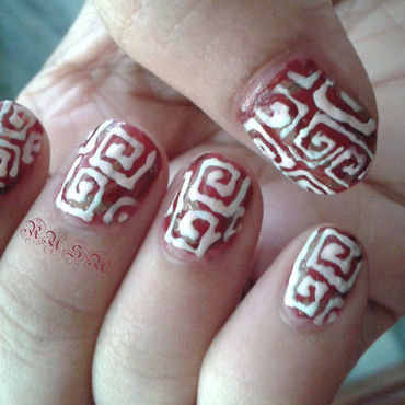 Greeky nail art by Rusa