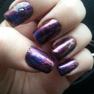 oil slick nail art by Valerie Harper