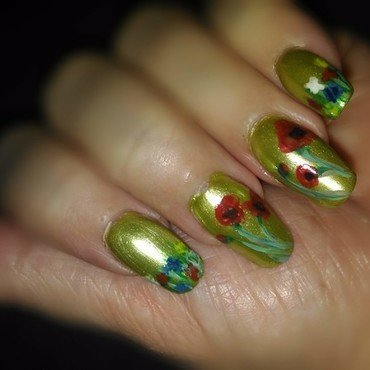 Spring while still in winter nail art by tigerlyly