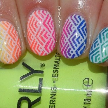#glamnailschallengeapril Rainbow nail art by Plenty of Colors
