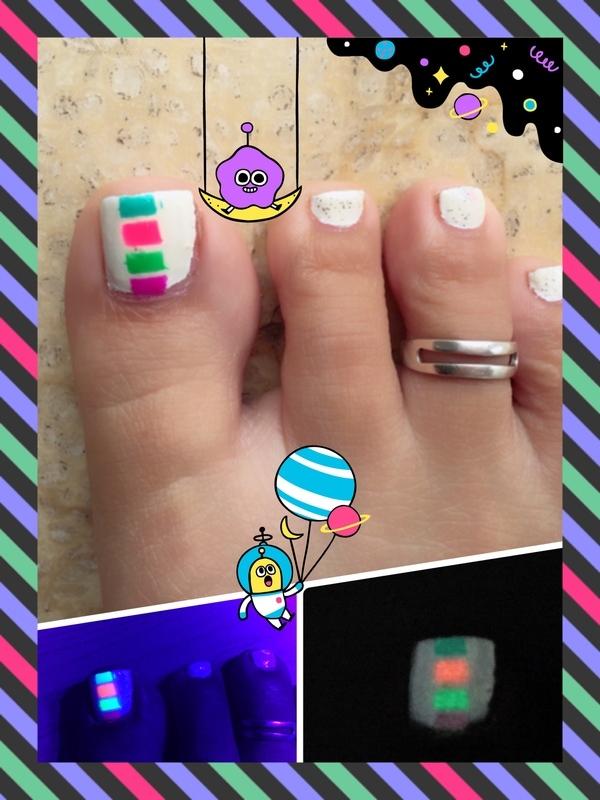 hollywood squares nail art by Idreaminpolish