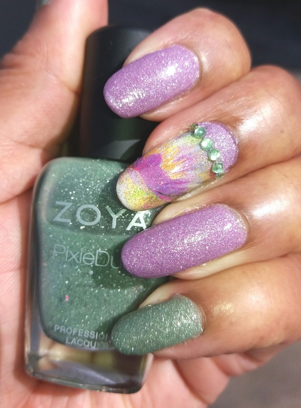 Soft and Pretty nail art by Jackie Bodick