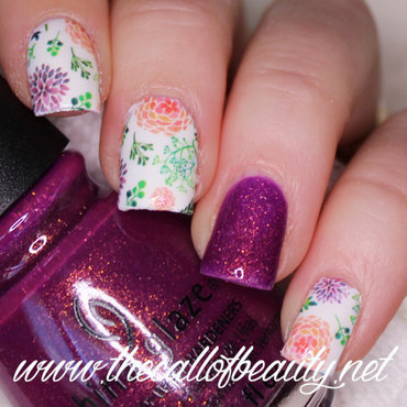 Pastel Dahlia nail art by The Call of Beauty