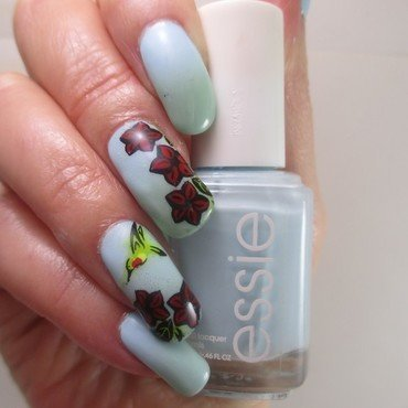 Hummingbirds Return nail art by NinaB