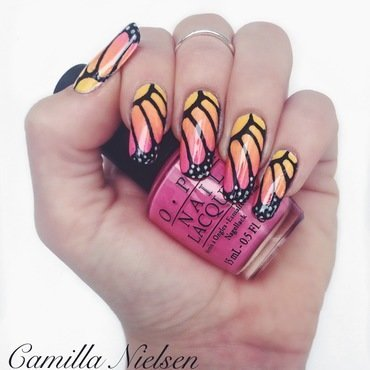 Butterfly Wings nail art by Camilla Nielsen