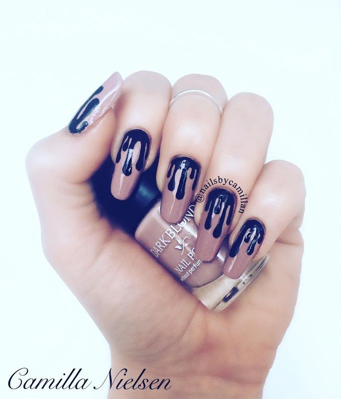 Kylie Lip Kit nail art by Camilla Nielsen