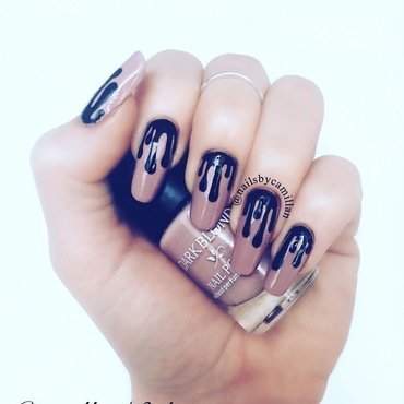 Kylie Lip Kit nail art by Camilla Nielsen