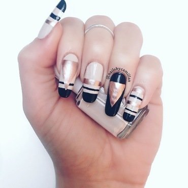 Rose gold passoin nail art by Camilla Nielsen
