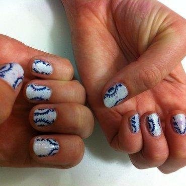 After Tadashi Shoji nail art by dazyndara