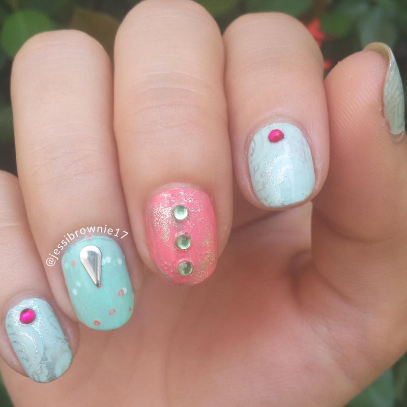 Spring Mani nail art by Jessi Brownie (Jessi)