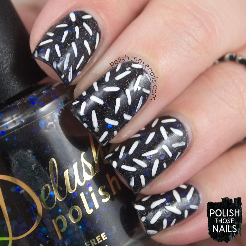 Stormy Sprinkles nail art by Marisa  Cavanaugh