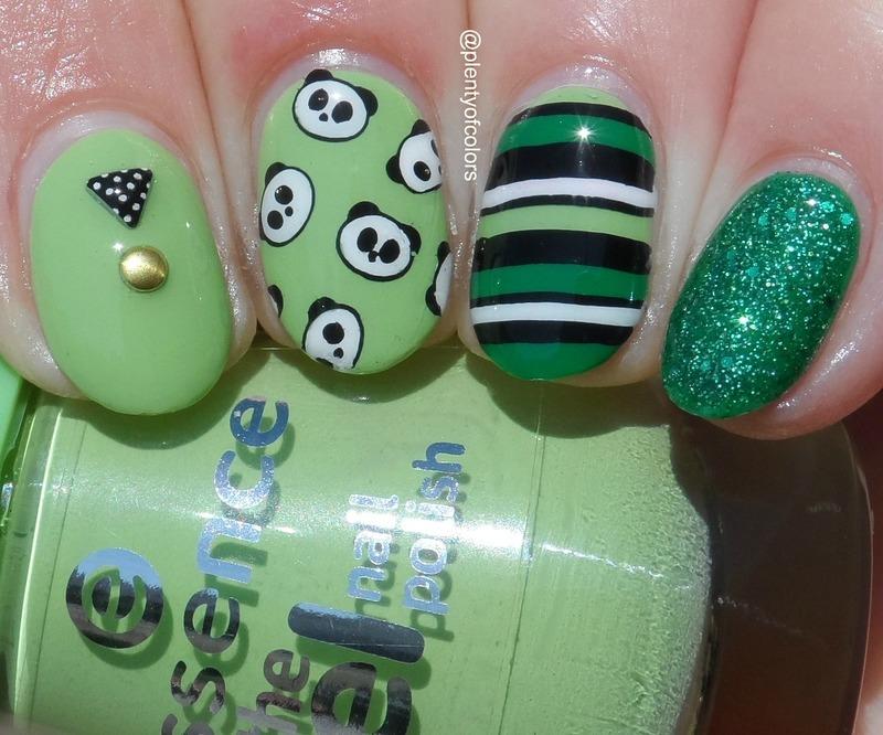 #glamnailschallengeapril Mix & Match nail art by Plenty of Colors