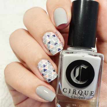 Geometric Page six nail art by klo-s-to-me
