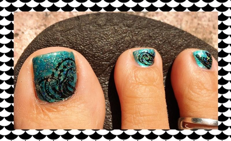 whirlpool nail art by Idreaminpolish