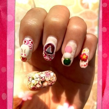 springtime in japan nail art by Idreaminpolish