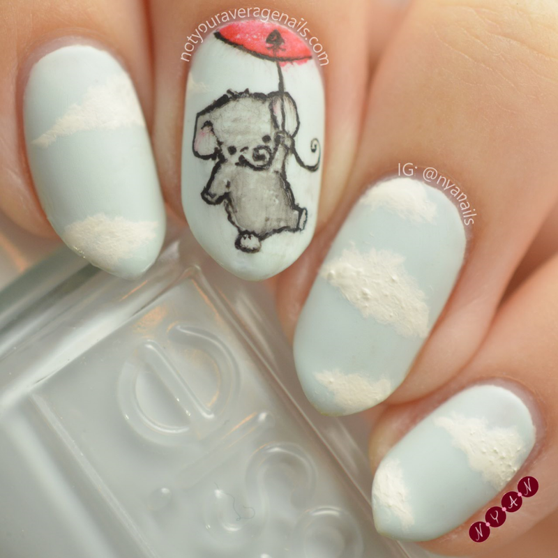 Up and Away nail art by Becca (nyanails)