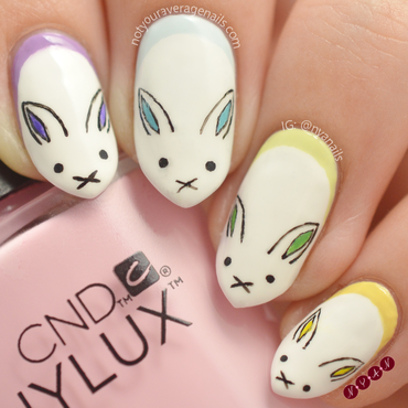Hop To It nail art by Becca (nyanails)