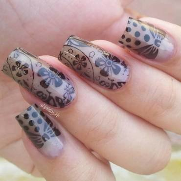 cute mani nail art by nailsofkh