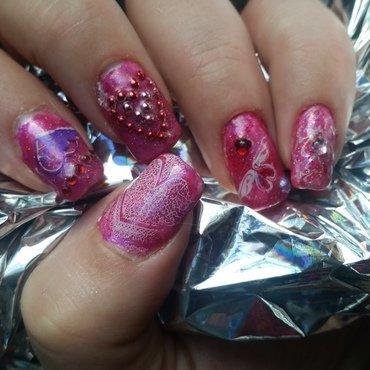 be mine nail art by Valerie Harper