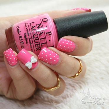 Polka Dot Nails nail art by Polishisthenewblack
