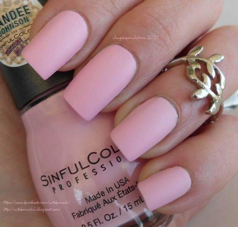 Sinful Colors Kandee Johnson Vintage Mattes Strawberry Milk Swatch by Angelique Adams