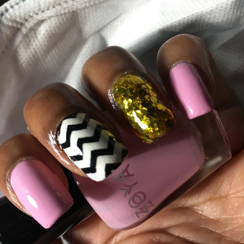 Fancy Bubblegum nail art by Chloe Jay