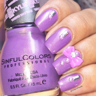 Shimmering Purple nail art by Milpa  InternNails