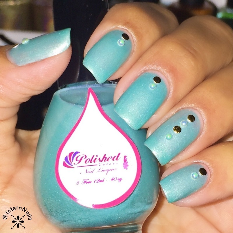 Polished Colors LLC Something Tiffany Blue Swatch by Milpa  InternNails