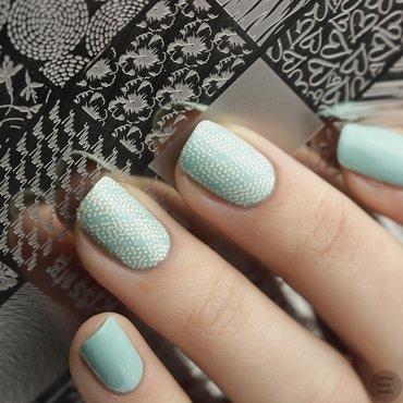 Lina Pastel Stamping nail art by Sabrina