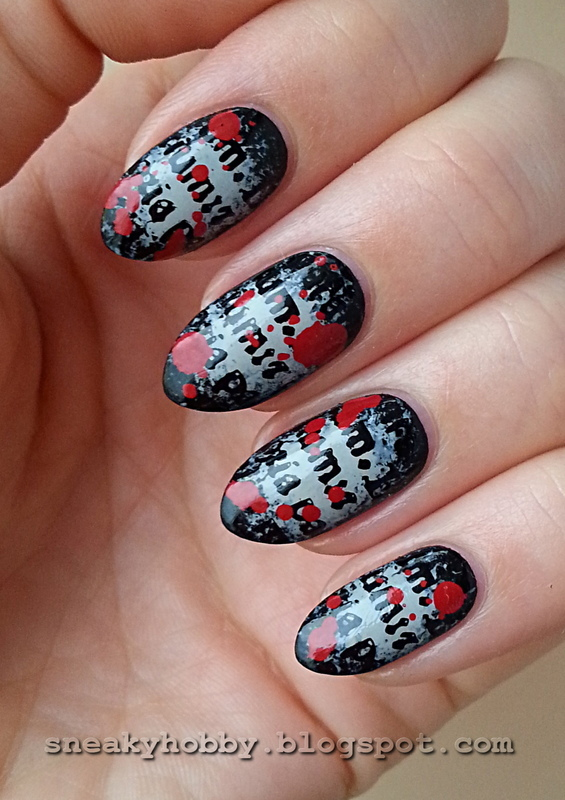 Bloody Letters From The Chemistry Of Death nail art by Mgielka M ...