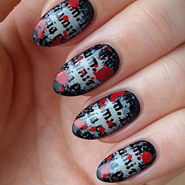 Bloody Letters From The Chemistry Of Death nail art by Mgielka M