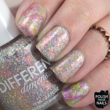 Different dimension ghost of jupiter holo silver watermarble nail art 3 thumb370f