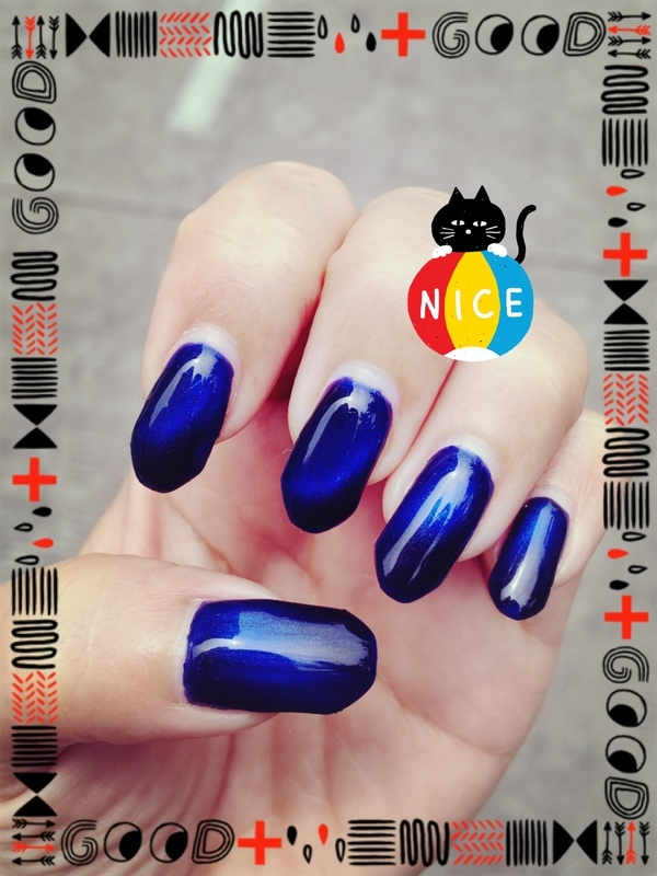 sapphire cat eye nail art by Idreaminpolish