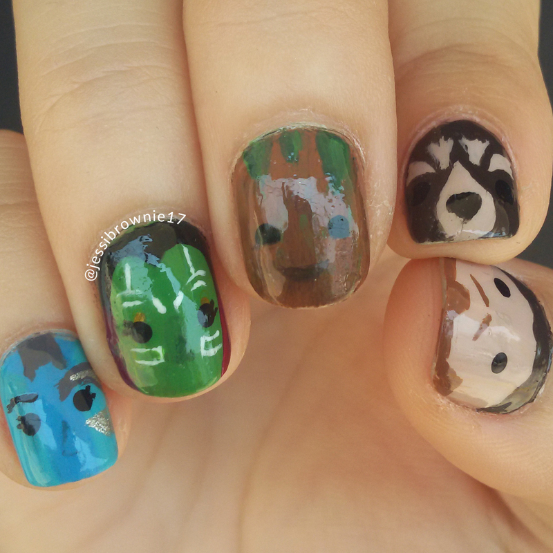 Guardians of the Galaxy Vol. 2 nail art by Jessi Brownie (Jessi)