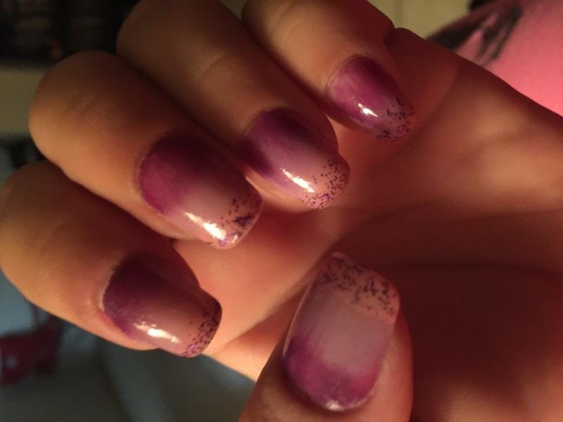 Purple rain nail art by Teana Jones