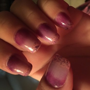 Purple rain nail art by Teana Jones