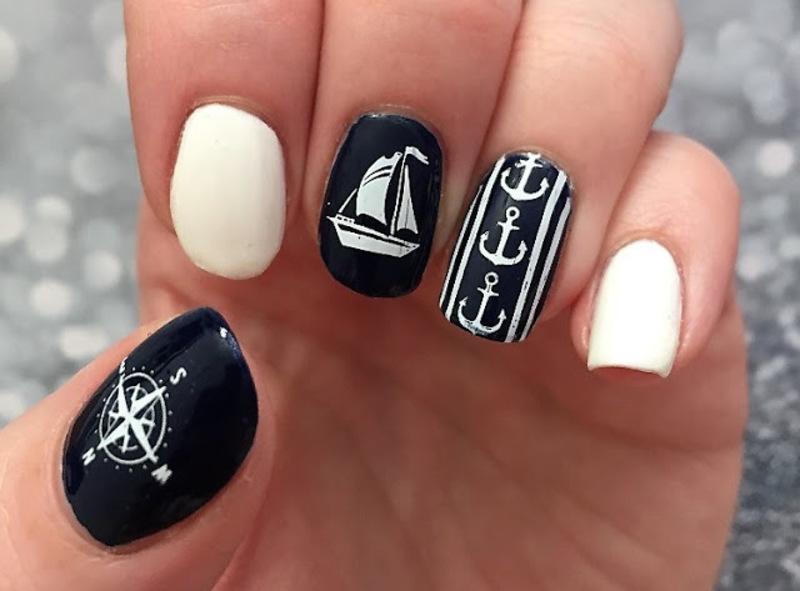 It's sail time! nail art by Meggy