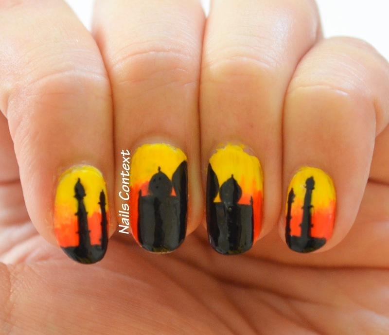 Taj Mahal nail art by NailsContext