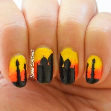 Taj Mahal nail art by NailsContext