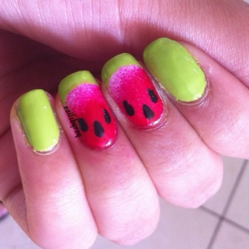 Watermelon Nail Art nail art by nailsbyroy