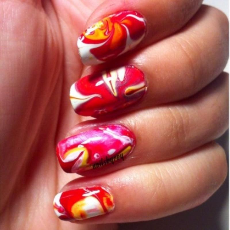 Watermarble nail art nail art by nailsbyroy