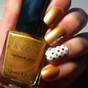 Polka dots nail art nail art by nailsbyroy
