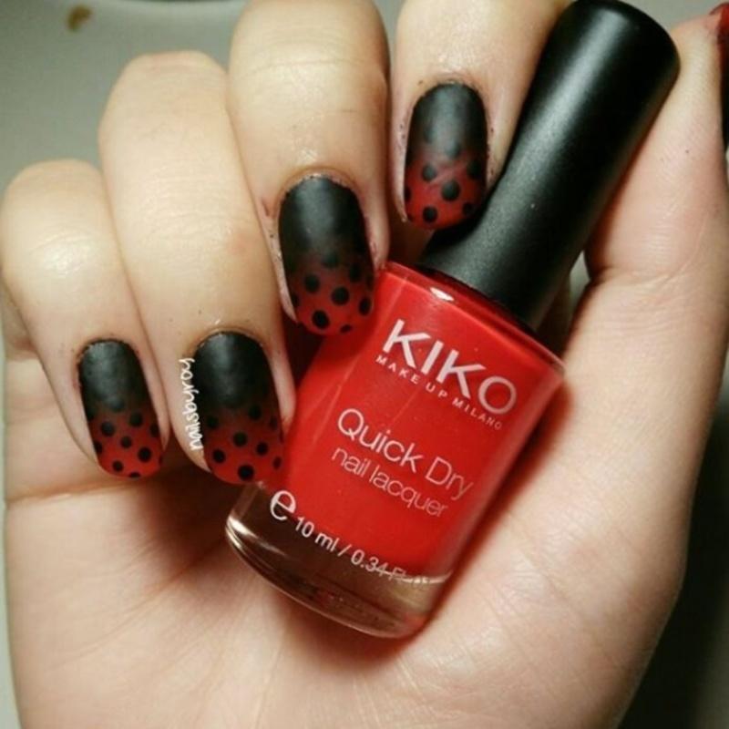 Gradient + polka dots nail art nail art by nailsbyroy