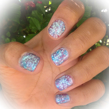 Galaxy over #smooshynailsunday nail art by Avesur Europa