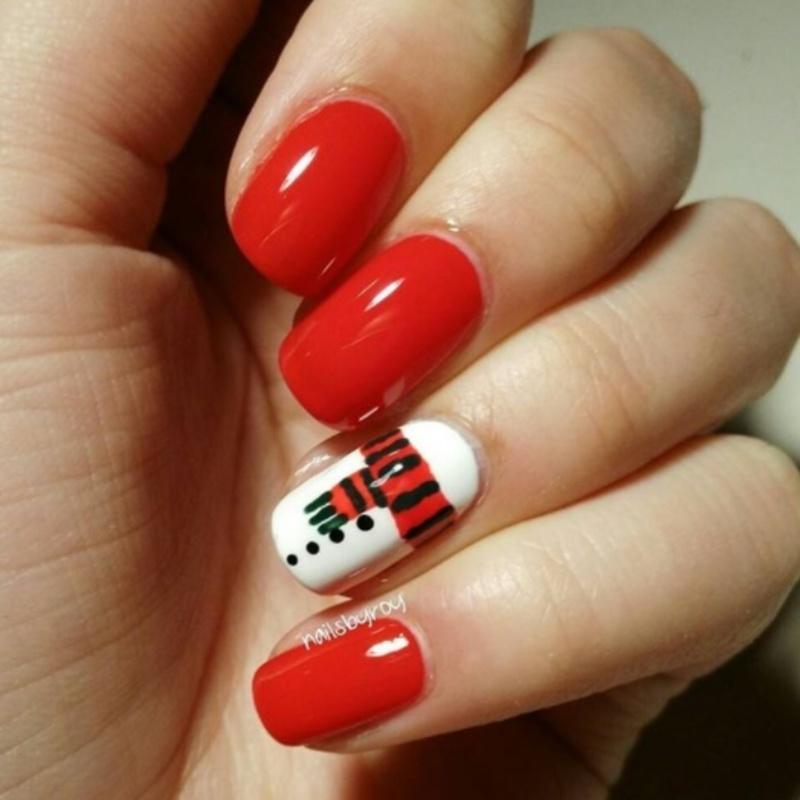 Snowman nail art nail art by nailsbyroy