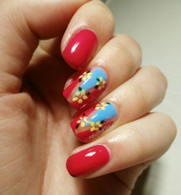 Floral print nail art nail art by nailsbyroy