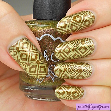 Gold stamping olive polish thumb370f